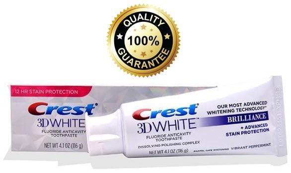Kem đánh răng siêu trắng Crest 3D White Brillance 116g (USA)
