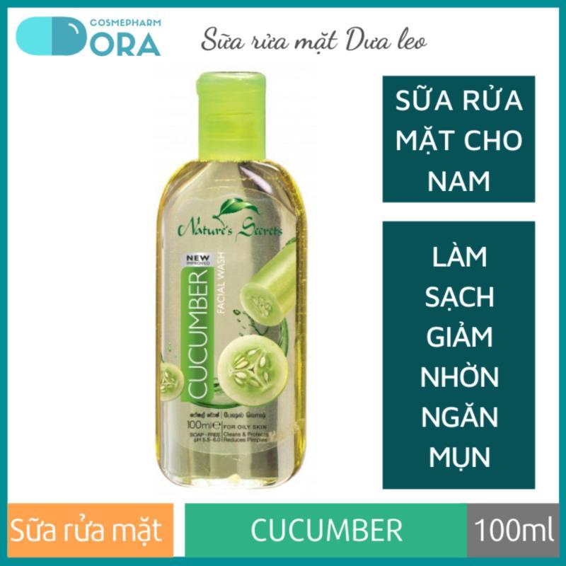 Sữa rửa mặt nam sạch nhờn giảm mụn Cucumber Extract Facial Cleansing Gel 100ml giá rẻ