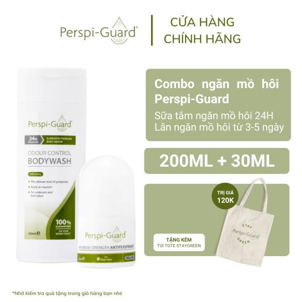 Combo ngăn mồ hôi Perspi-Guard sữa tắm 200ml + lăn khử mùi 30ml giá rẻ