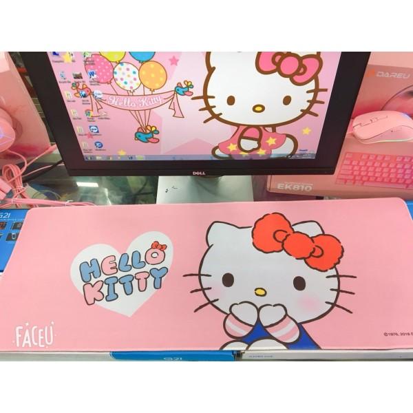 Bảng giá Lót Di Chuột Hello Kitty Size 80*30Cm - Pad Chuột Màu Hồng Dễ Thương Phong Vũ