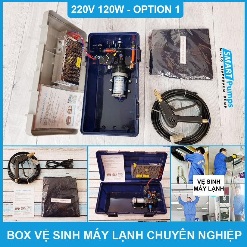 Box Xịt Vệ Sinh Máy Lạnh Chuyên Nghiệp 120W 220V Option 1