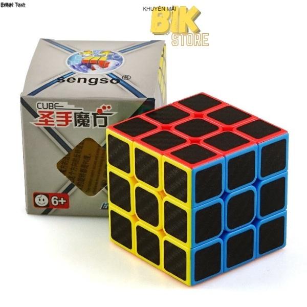 Rubik 3x3 Giá Rẻ Carbon SENGSO - Khối Robik 3×3 Mượt - Cục Rubit Nhanh Rubic SPEED CUBE - Robic - CB3301 chính hãng