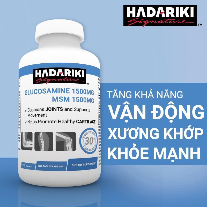 Thực Phẩm Chức Năng Bổ Xương Khớp Hadariki Glucosamine 1500mg MSM 1500mg (Chai 375 viên)
