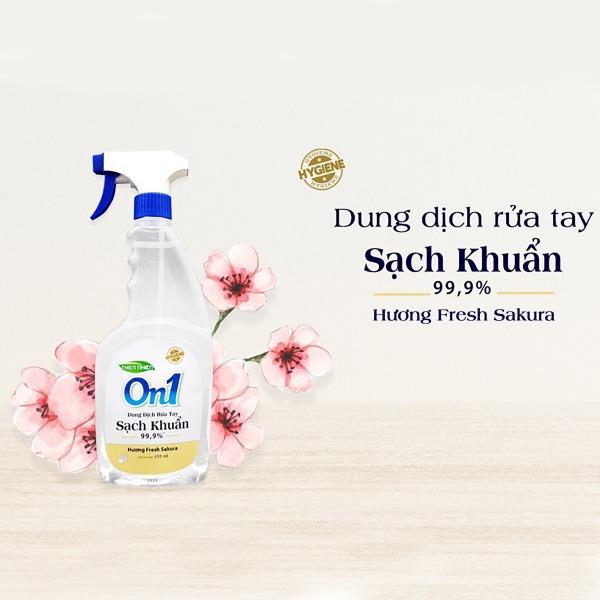 Nước Rửa Tay Khô On1 Sạch Khuẩn đến 99% -650ml dạng bình xịt-chung tay chống dịch