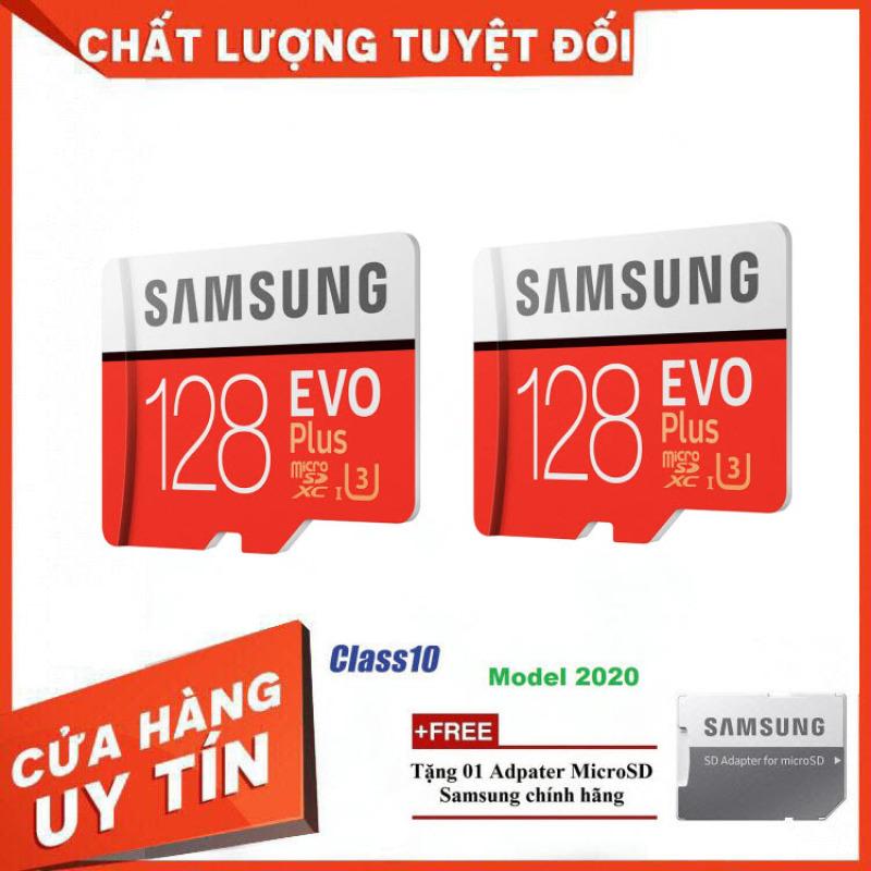 Combo 2 Thẻ nhớ MicroSD Samsung EVO Plus 4K 128GB 100MB/s 256GB Box Anh 2020 - Hàng Chính Hãng