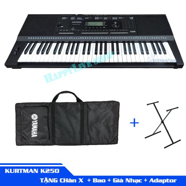 Đàn Organ Kurtzman K250 + Chân X + Bao + Giá nhạc + Adapter - HappyLive Shop