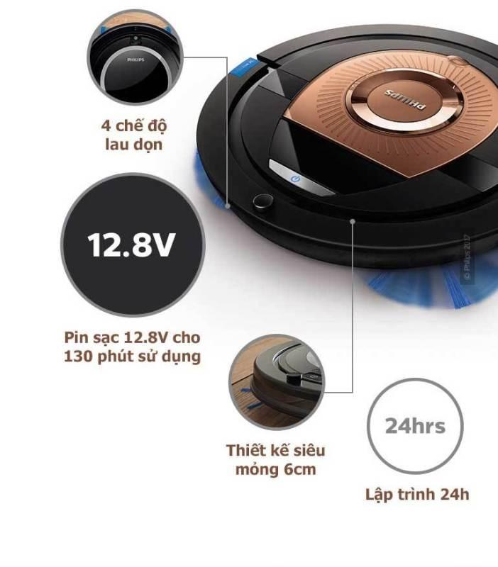 Robot hút bụi thông minh Philips FC8776 - Bảo hành 24 tháng - Hàng nhập khẩu