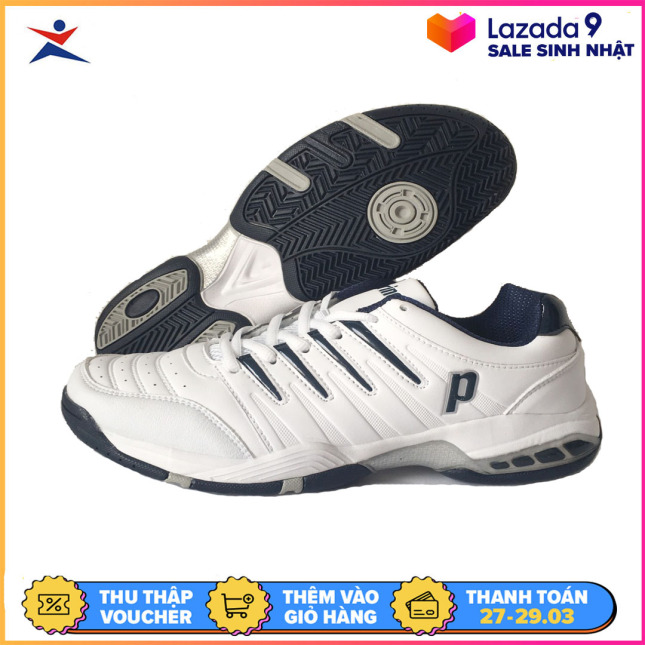 Giày tennis nam Prince mẫu mới, hỗ trợ vận động tốt, màu trắng, dành cho nam, đủ size - sportmaster - Giầy thể thao nam - Giầy tennis chuyên dụng giá rẻ
