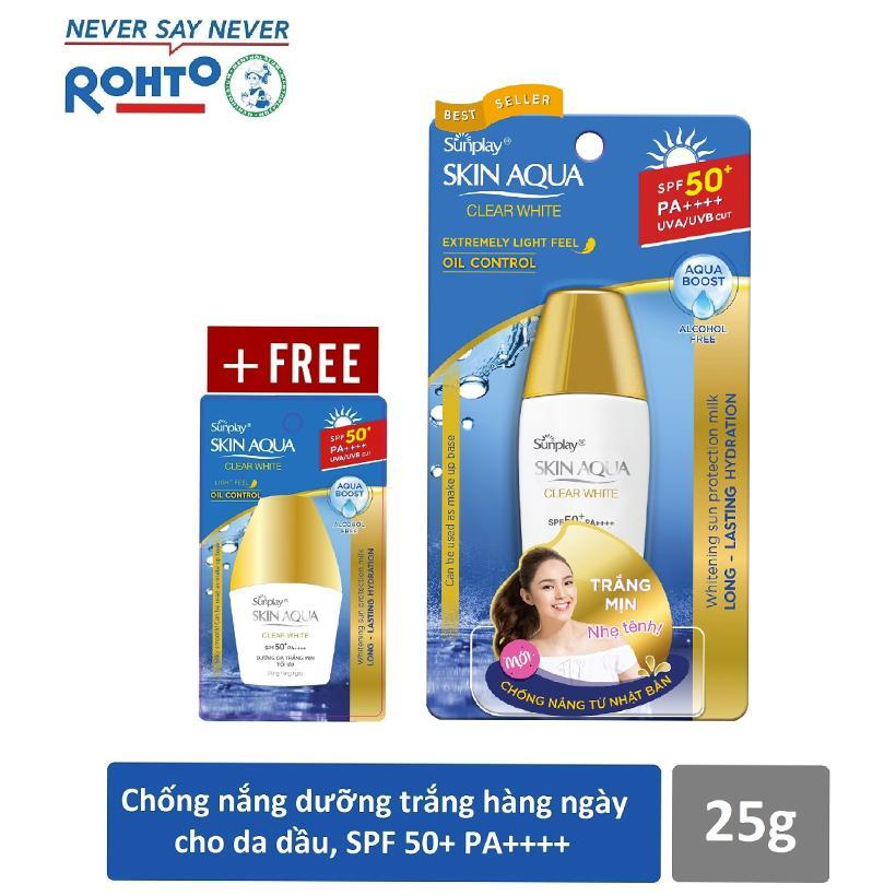 Kem chống nắng Sunplay Skin Aqua Clear White 25g (tặng chai 5g) nhập khẩu