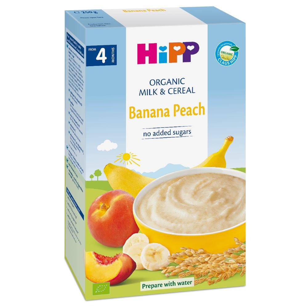 Bột sữa chuối đào HiPP 250g
