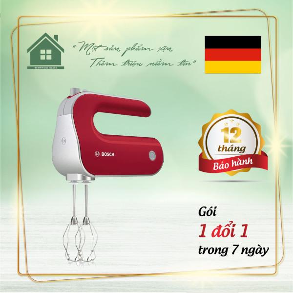 Máy Đánh Trứng Bosch MFQ40303 - Màu Đỏ giúp bạn trộn bột, đánh trứng một cách nhanh chóng dễ dàng hơn - Minhhouseware hàng nhập khẩu 100% từ Đức