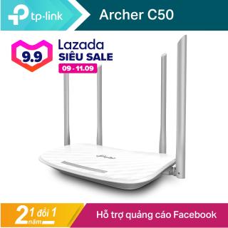 thiết bị siêu kích sóng wifi, Bộ Phát WIFI TPLINK C50 (AC1200) 4 ANTEN Mạng Doanh Nghiệp 50 User, vùng phủ sóng rộng lớn trên 300m2 , phục vụ tối ưu Internet cho các xưởng , công ty , doanh nghiệp - BẢO HÀNH 1 NĂM thumbnail