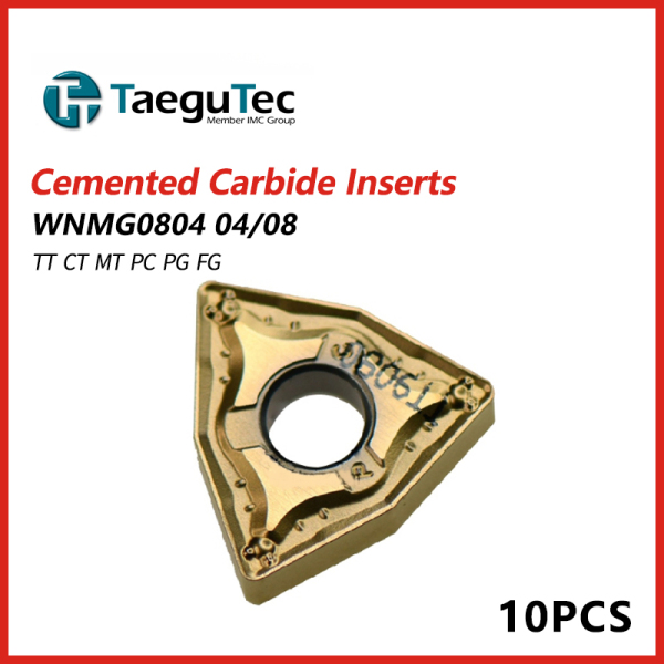 TaeguTec Cemented Carbide Inserts WNMG 0804 04/08/12 TT EA FG MT MC PC