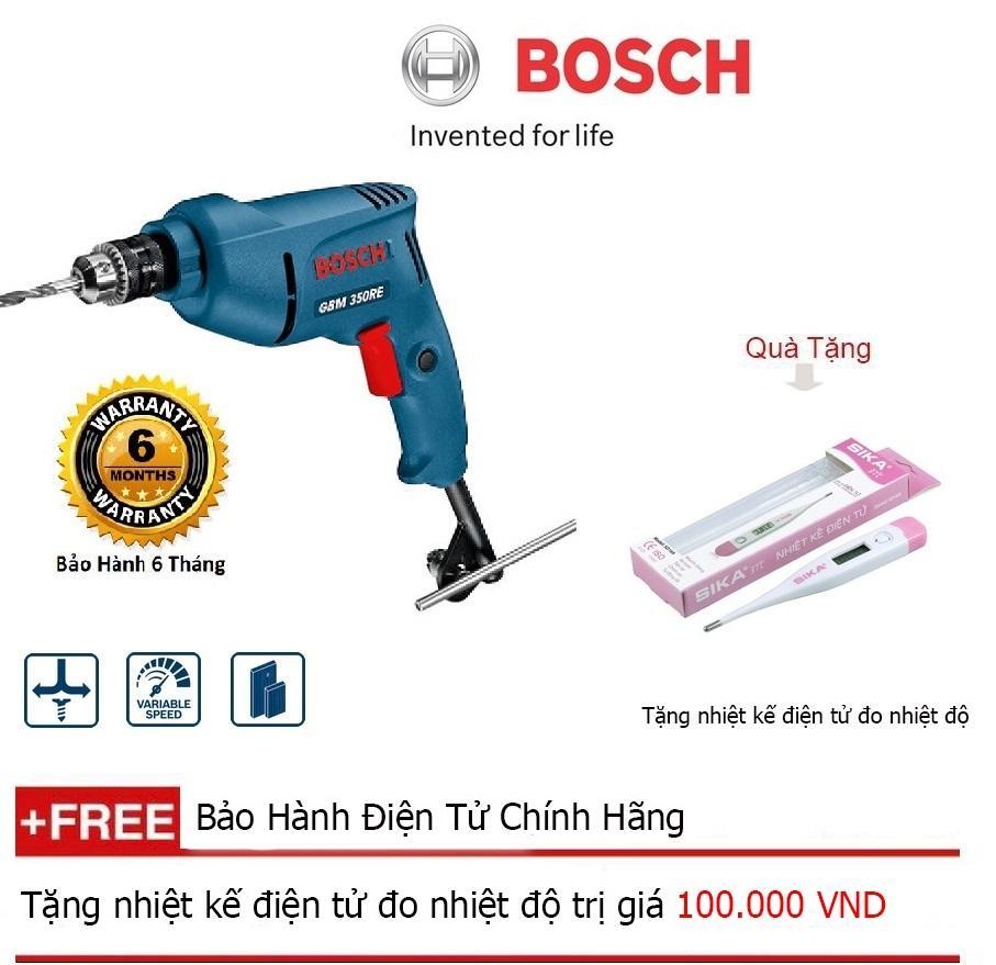 Máy khoan Bosch GBM 350  + Quà tặng nhiệt kế điện tử