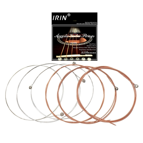 IRIN A108 6Pcs/Set Acoustic Flok Guitar String 009-045 Inch 6 Strings Guitar Parts Accessories Malaysia