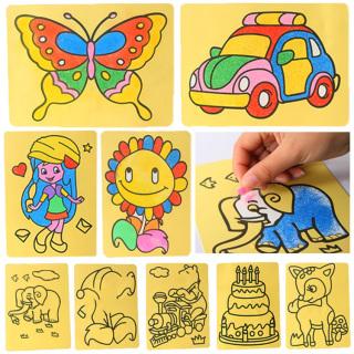 Bộ 2 Tranh Cát Cho Bé Tập Tô Màu Làm Họa Sỹ, Đồ Chơi Trẻ Em thumbnail