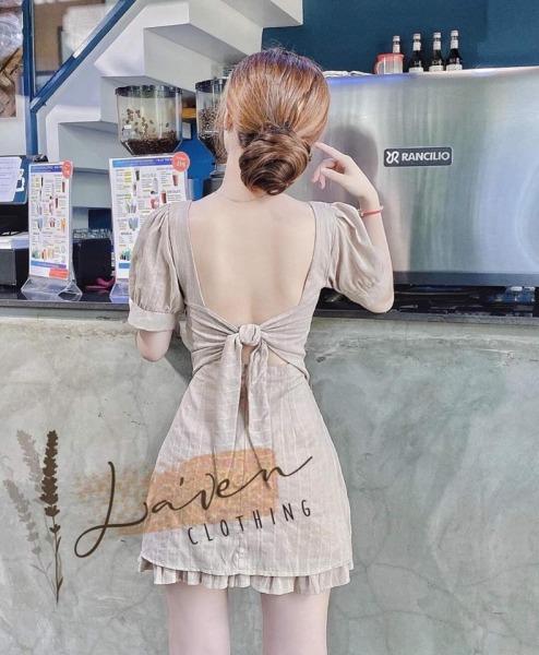 [Đầm Mới] Đầm Đũi Tay Phồng Cột Nơ Có Mút L-G Store Là 1 Sản Phẩm Thật Sự Phù Hợp Để Tới Công Sở, Đi Làm Hoặc Đi Chơi,Free Size Dưới 55kg,Phù Hợp Mọi Với Mọi Phong Cách.