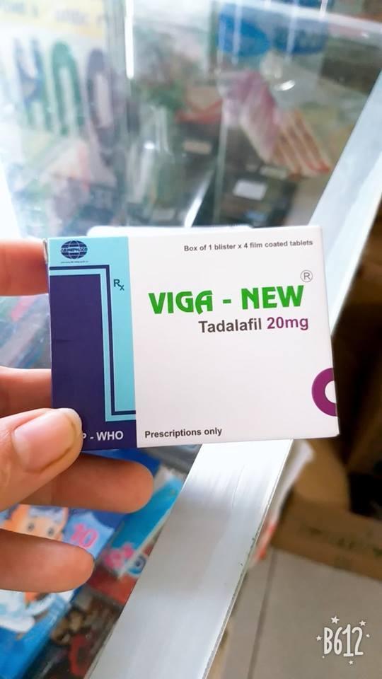 V.I ga -N.ew Thuố.c chống rối lọa.n cươ.ng dươ.ng ( vỉ 4 v.iên) nhập khẩu
