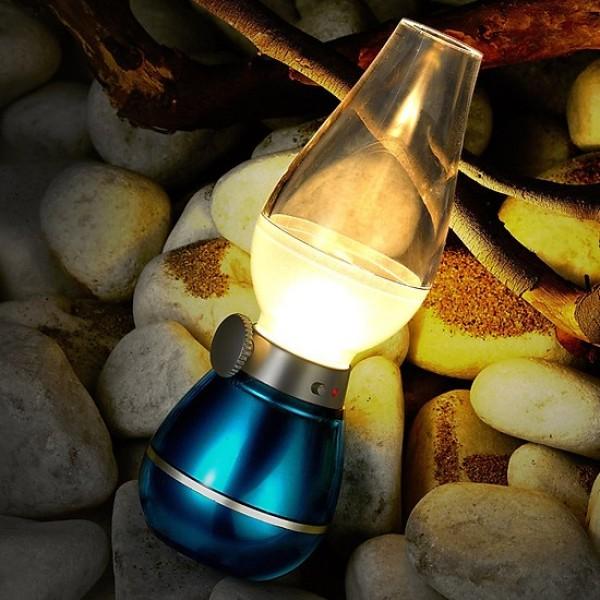 Bảng giá Đèn Dầu cảm ứng Điện Tử LED Thổi Tắt khi bật - Đèn cảm ứng không khói khi thổi