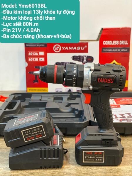 (VIDEO máy) Khoan pin YAMASU6013B, 3 chức năng, không than, pin 21V 4A