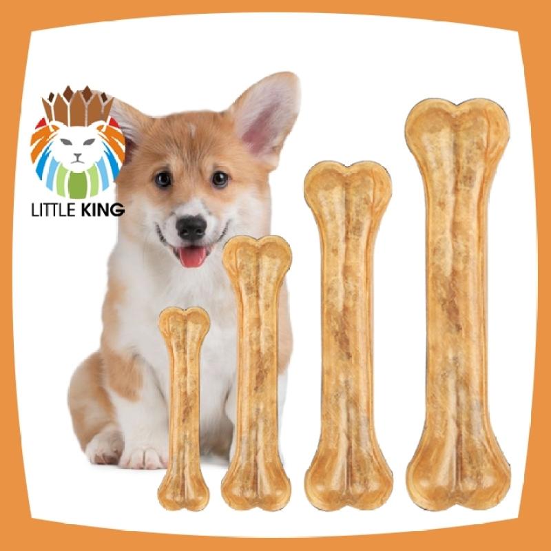 Xương da bò cho chó gặm sạch răng, khử mùi hôi miệng, giúp răng chắc khỏe - Little King pet shop