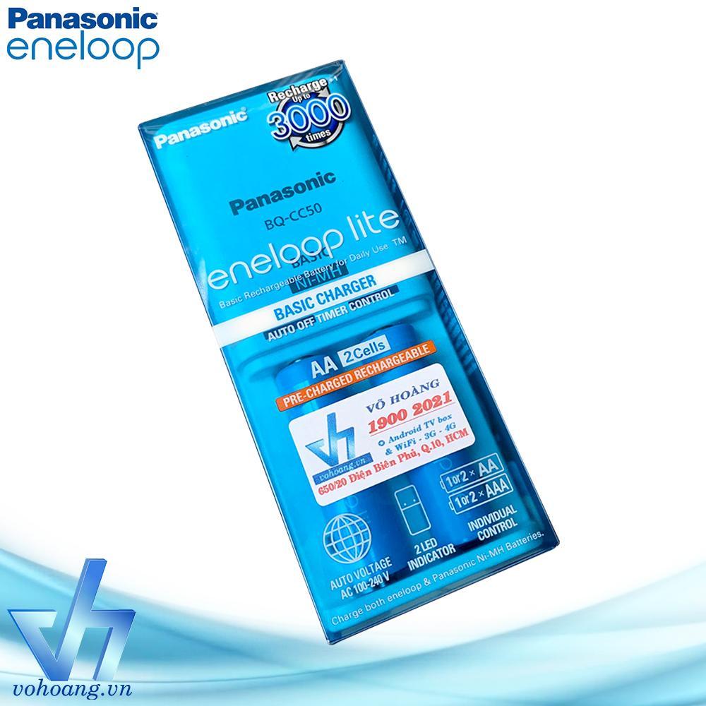 Giá Sạc pin Panasonic Eneloop Lite kèm sẵn 2 pin AA 1000mAh