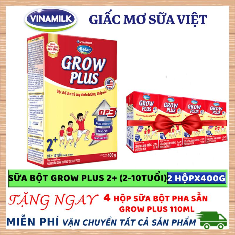 Sữa bột Dielac Grow Plus 2+ - hộp giấy 400g (2 - 10 tuổi)