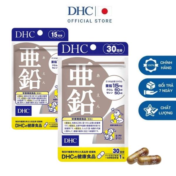 DHC Viên uống bổ sung kẽm zinc Nhật Bản giúp ăn ngon miệng hỗ trợ rụng tóc tăng cường sức khỏe thực phẩm chức năng 15 ngày và 30 ngày