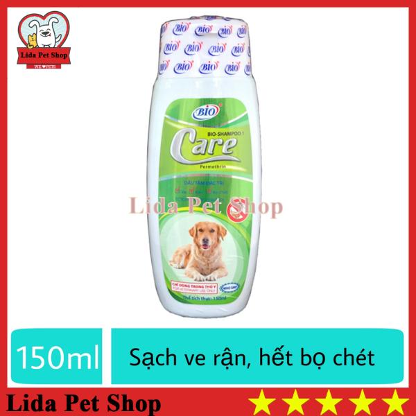 HN- Sữa tắm cho chó diệt ve ghẻ rận tai cho chó mèo - Bio Care 150ml diệt ve, ghẻ và nấm da xà mâu, demotex - Lida Pet Shop