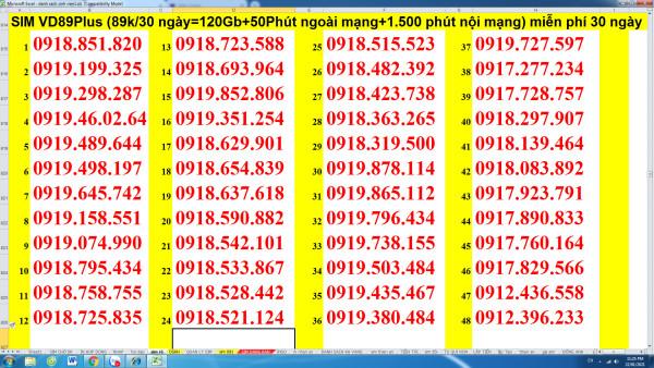 VD89Plus 091 chỉ cần 89k mỗi tháng luôn có 120Gb + 1.500 phút nội mạng + 50 phút ngoại mạng luôn theo mỗi bước chân của bạn!