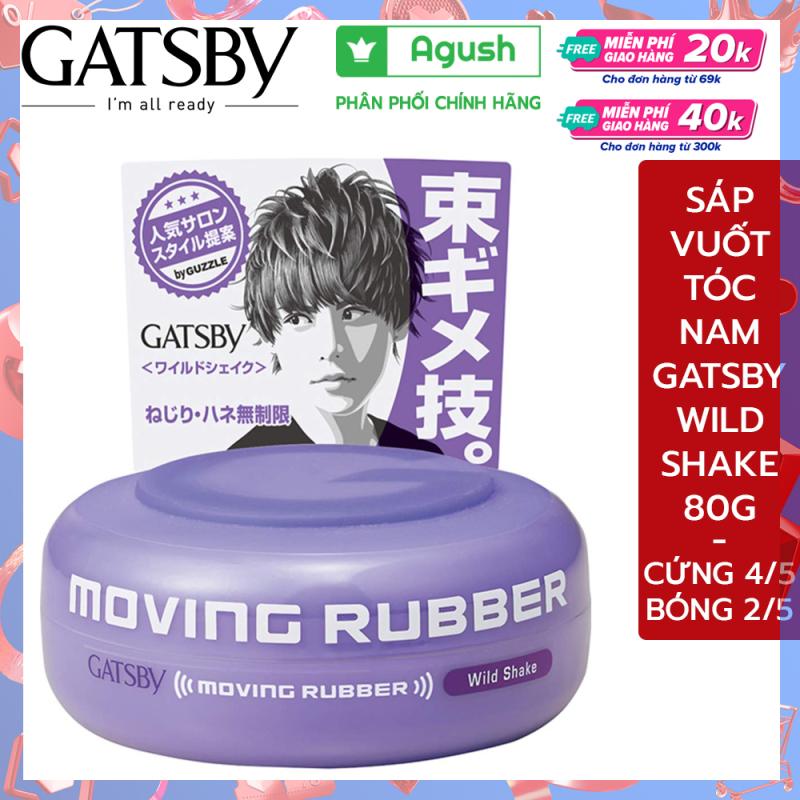 Sáp vuốt tóc nam cao cấp Gatsby Moving Rubber Wild Shake 80G ít bóng rất cứng vuốt tóc khô giữ nếp lâu thơm mùi trái cây giá rẻ