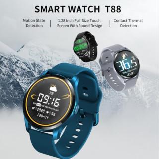 ( HÀNG ĐỘC QUYỀN ) Đồng Hồ Thông Minh Smart Watch T88 - Thông Báo Cuộc Gọi Và Các Chức Năng, Theo Dõi Sức Khỏe, Đo Nhịp Tim, Huyết Áp, Vận Động Thể Thao, Chống Thấm Nước 100% - Bảo Hành 12 Tháng thumbnail