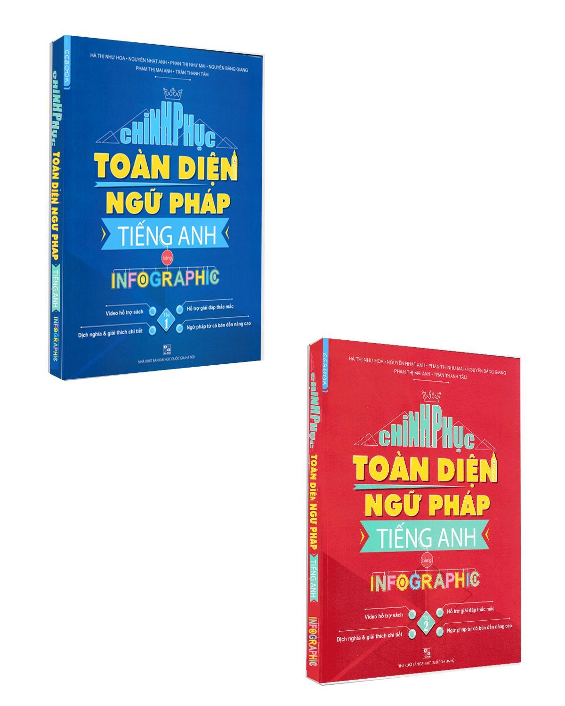 Tiết Kiệm Cực Đã Khi Mua SÁCH - Combo Chinh Phục Toàn Diện Ngữ Pháp Tiếng Anh Bằng Infographic (2 Tập)