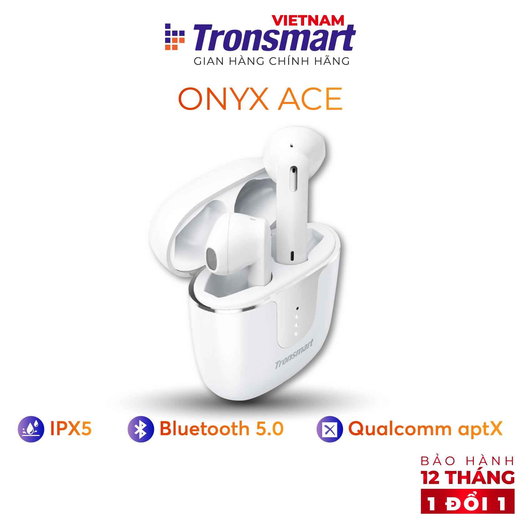 [VOUCHER 7% tối đa 500K] Tai nghe Bluetooth 5.0 Tronsmart Onyx Ace Chống nước IPX5 Khử tiếng ồn - Hàng chính hãng - Bảo hành 12 tháng 1 đổi 1