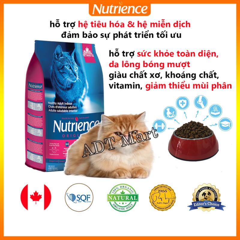 Thức Ăn Cho Mèo Trường Thành Nutrience Origianl - Thịt Gà, Rau Củ, Trái Cây Tự Nhiên, Cung Cấp Protein Cao & Axit Amin, Giàu Chất Xơ, Khoàng Chất, Vitamin. Giảm Mùi Phân. Hỗ Trợ Da Lông Bóng Mượt, Hệ Tiêu Hóa, Hệ Miễn Dịch Khỏe Mạnh