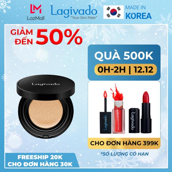 Phấn nước che khuyết điểm Hàn Quốc chính hãng Lagivado kiềm dầu, trang điểm cho lớp nền trong suốt Just Perfection Cushion Foundation  – Tone tự nhiên nhập khẩu