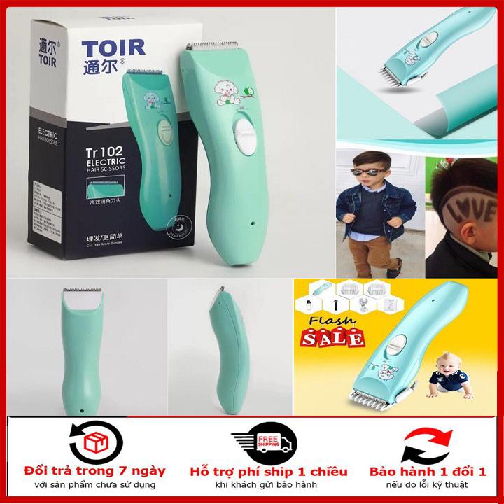 (tặng kèm 4 đầu cắt)Tông đơ cắt tóc trẻ em TOIR an toàn tại nhà cao cấp