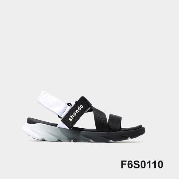 Giày Sandal Shondo F6 sport ombre đế 2 màu đen trắng F6S0110 giá rẻ