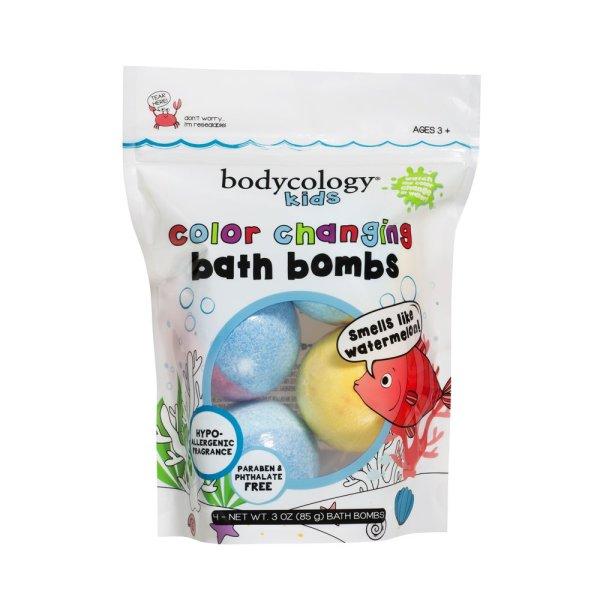 Bom tắm Bodycology Kids Watermelon Color Changing Bath Bomb, 4 Viên Walmart Mỹ giá rẻ