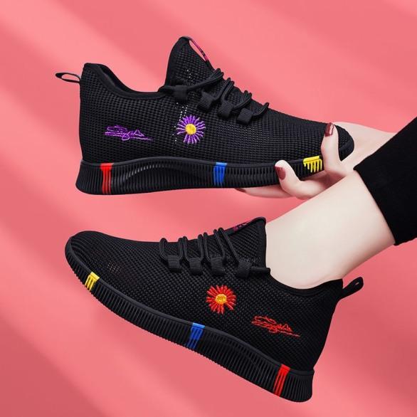 Giày thể thao nữ đế  3 vạch hoa cúc chữ kí mới 2020 thoáng khí kiểu dáng đẹp hottt - Sudoo giá rẻ