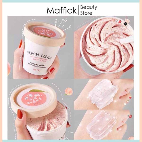 Tẩy tế bào chết body đào Heyxi loại bỏ bã nhờn, giảm mụn lưng, mịn da, se khít lỗ chân lông giúp cho da sáng hồng tự nhiên HTTBC1 Maffick