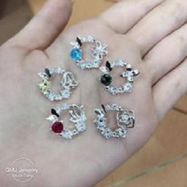 QMJ Dây chuyền bạc Nữ thần 925 cao cấp  nạm đá tinh tế thiết kế độc lạ, thích hợp với cô nàng thích sự độc và lạ trang sức thời trang nữ đẹp - QKL2130