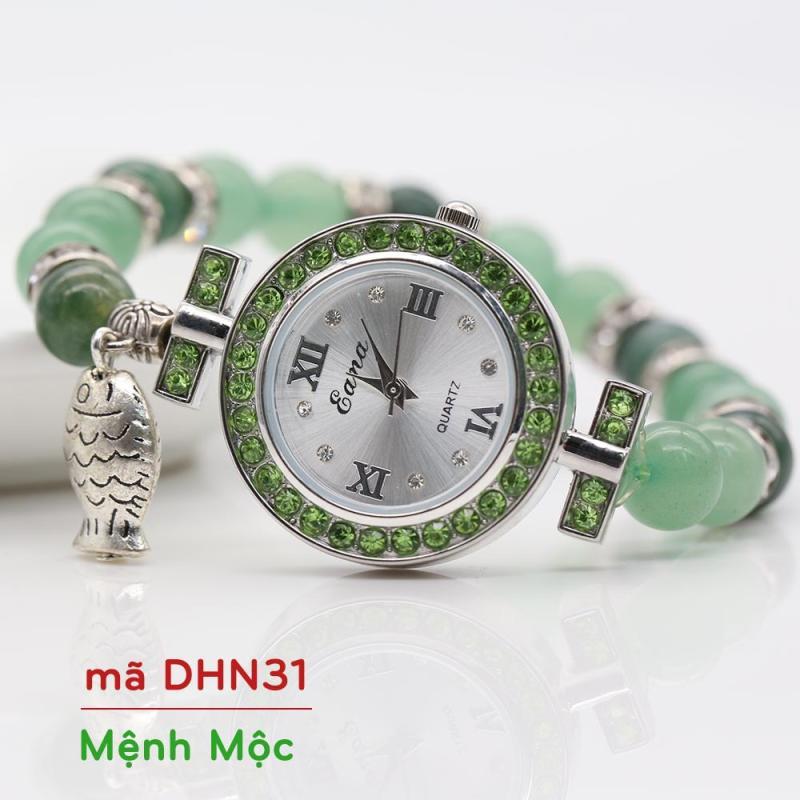 Nơi bán Đồng Hồ Mix Đá Cẩm Thạch + Mã Não Ấn Độ DHN31