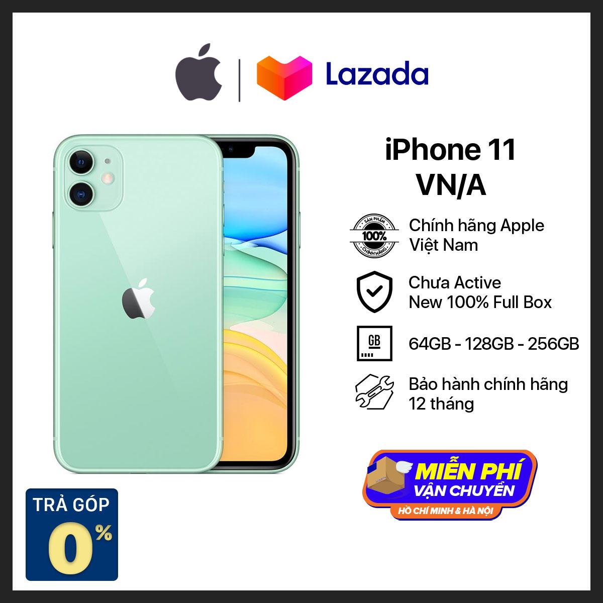 Điện thoại Apple iPhone 11 - Hàng Chính Hãng VN/A - Mới 100% - (Phiên bản mới) không có củ sạc và tại nghe