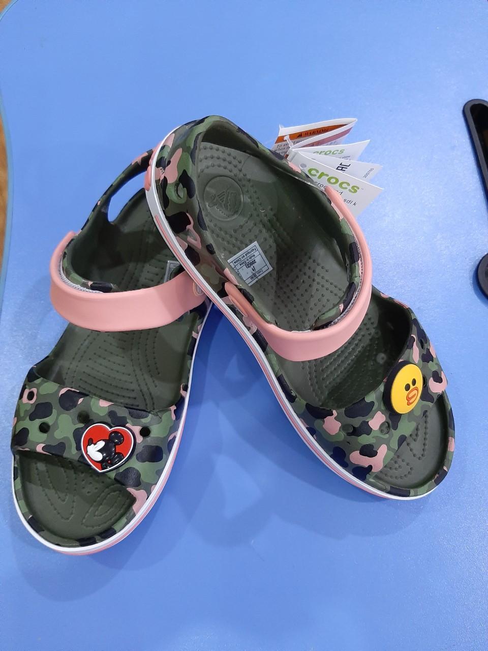 Giá bán Giày Sandal Bayaband Camo quai hồng cho bé - mẫu mới