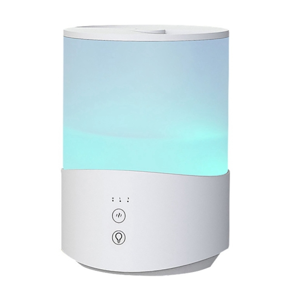 2.5L Bedroom Humidifier, 7-Color Night Light Cold Fog Humidifier, Baby Humidifier, 24DB, Automatic Shutdown US Plug Singapore