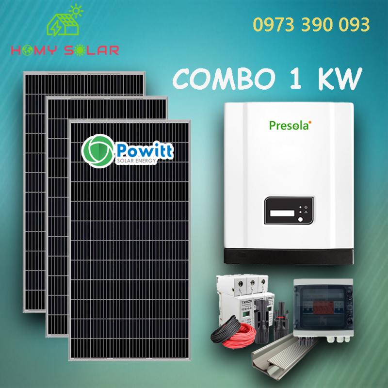 COMBO 3 TẤM PIN MONO PERC POWITT 400W VÀ INVERTER 3 KW