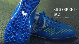 [Bảo hành 6 tháng] Giày đá bóng sân cỏ nhân tạo giá rẻ Sigo Speed 19.2 - đế TF chống trượt, cổ thun định hình, tặng vớ chống trơn và túi rút thumbnail