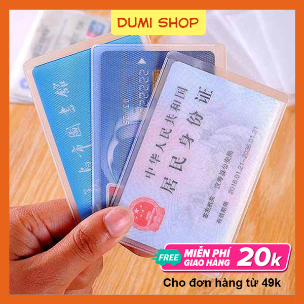 Set 5 Vỏ Bọc Thẻ Ngân Hàng, Thẻ CCCD, Thẻ Sinh Viên – Dumi Shop