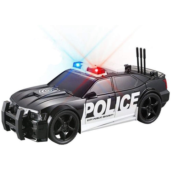 Simulation Police Car Toy Pursuit Rescue Vehical Model with Sound and Light ,Best Gift for Kids Boys and Girls